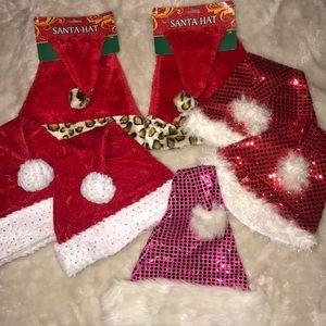 Pairs Of Holiday / Christmas / Santa Hats